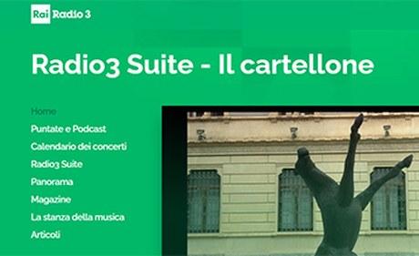 Giovedì 28 gennaio ore 21.50, Andrea Bacchi e Giovanna Capitelli a Radio3 Suite per raccontare il libro CAPITALE E CROCEVIA. IL MERCATO DELL'ARTE NELLA ROMA SABAUDA. Buon ascolto!