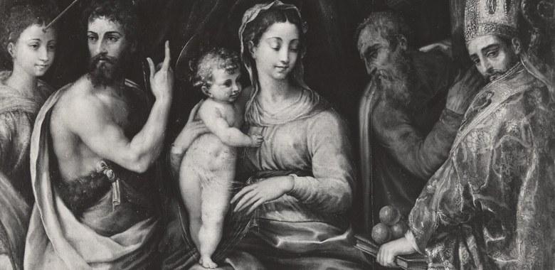 Dettaglio Madonna con Bambino in trono