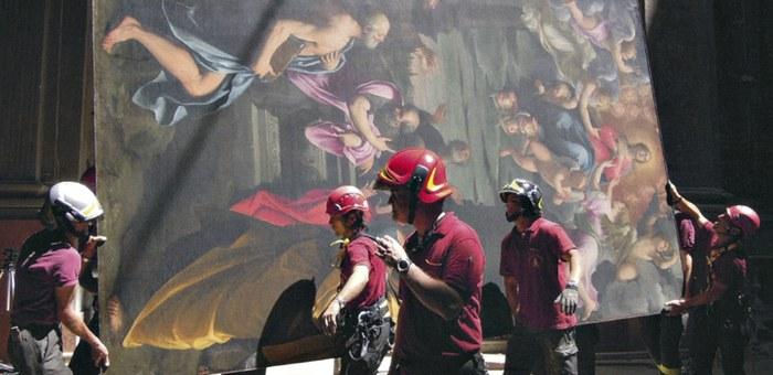 Intervento pompieri su quadro Reni a Pieve di Cento