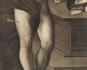 Dosso o Battista Dossi, Madonna con Bambino in trono tra San Sebastiano e San Giorgio, particolare, Modena, Galleria Estense