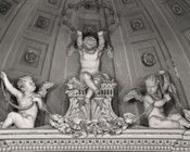 Giacomo Rossi, Angeli con corona di stelle e festoni, Bologna, Chiesa di Santa Maria Labarum Coeli detta la Baroncella